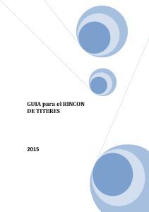 GUIA para el RINCON DE TITERES