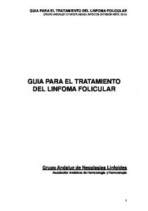 GUIA PARA EL TRATAMIENTO DEL LINFOMA FOLICULAR