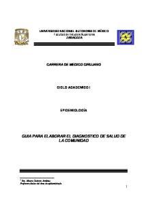 GUIA PARA ELABORAR EL DIAGNOSTICO DE SALUD DE LA COMUNIDAD