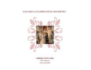 GUIA PARA LA CELEBRACION DEL MATRIMONIO