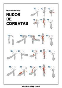 GUIA PARA LOS NUDOS DE CORBATAS. bibliotecasud.blogspot.com