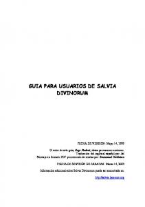 GUIA PARA USUARIOS DE SALVIA DIVINORUM