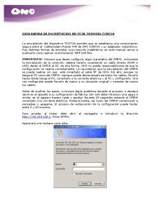 GUIA RAPIDA DE ENCRIPTACION WI-FI DE THOMSON TCW710