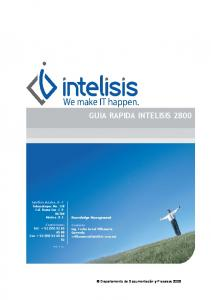 GUIA RAPIDA INTELISIS 2800