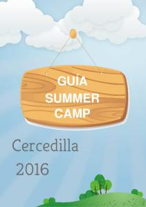 GUÍA SUMMER CAMP Cercedilla 2016