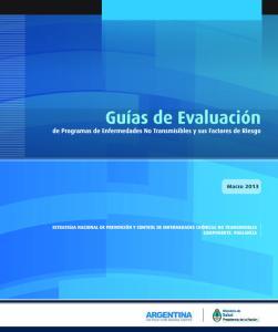Guías de Evaluación de Programas de Enfermedades no Transmisibles y sus Factores de Riesgo