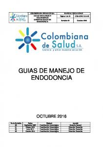 GUIAS DE MANEJO DE ENDODONCIA