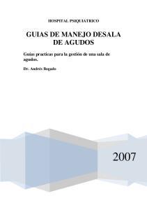 GUIAS DE MANEJO DESALA DE AGUDOS