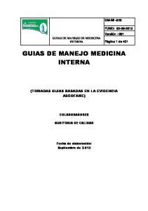 GUIAS DE MANEJO MEDICINA INTERNA