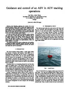 Guidance and control of an ASV in AUV tracking operations