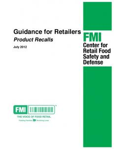 Guidance for Retailers