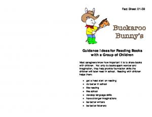 Guidance Ideas for Reading Books with a Group of Children