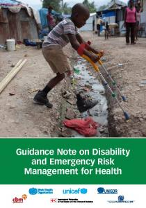 Guidance Note on Disability and Emergency Risk Management for Health