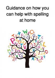Guidance on how you can help with spelling at home
