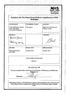 Guidance on the Prescribing of Stoma Appliances in NHS Grampian