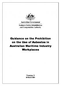 Guidance on the Prohibition on the Use of Asbestos in Australian Maritime Industry Workplaces