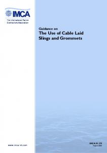 Guidance on The Use of Cable Laid Slings and Grommets