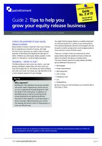 Guide 2: Tips to help you grow your equity release business