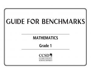GUIDE FOR BENCHMARKS. MATHEMATICS Grade 1