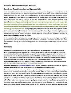 Guide for Bioinformatics Project Module 2