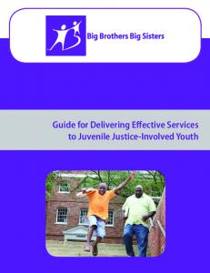 Guide for Delivering Effective Services to Juvenile Justice-Involved Youth