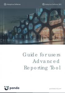 Guide for users Advanced Reporting Tool. Guide for users Advanced Reporting Tool