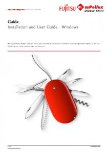 Guide Installation and User Guide - Windows