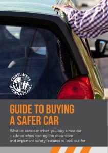 Guide to buying a safer car