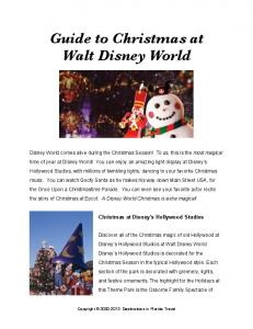 Guide to Christmas at Walt Disney World