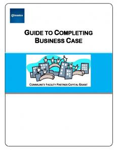 GUIDE TO COMPLETING BUSINESS CASE