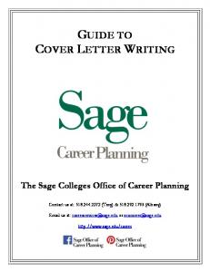 GUIDE TO COVER LETTER WRITING