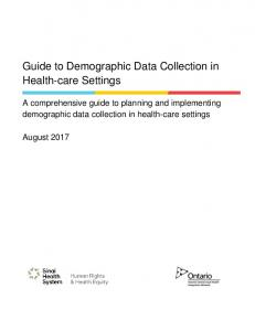Guide to Demographic Data Collection in Health-care Settings