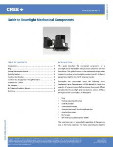 Guide to Downlight Mechanical Components