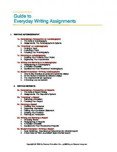 Guide to Everyday Writing Assignments