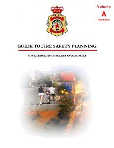 GUIDE TO FIRE SAFETY PLANNING