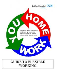 GUIDE TO FLEXIBLE WORKING