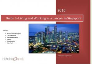 Guide to Living and Working as a Lawyer in Singapore