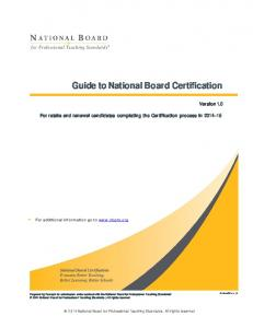 Guide to National Board Certification
