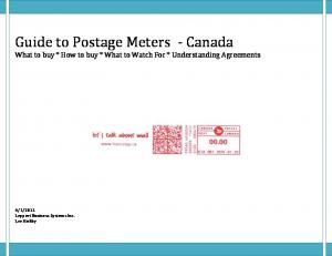 Guide to Postage Meters - Canada