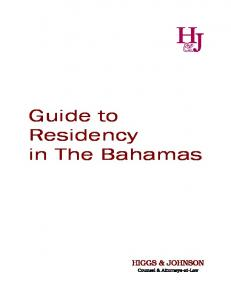 Guide to Residency in The Bahamas