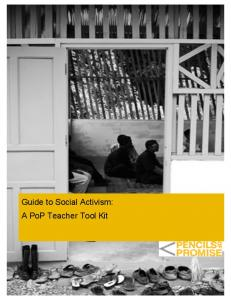 Guide to Social Activism: A PoP Teacher Tool Kit