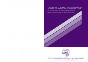 Guide to Supplier Development