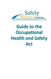 Guide to the Occupational Health and Safety Act