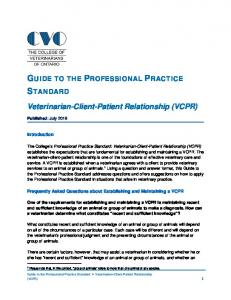 GUIDE TO THE PROFESSIONAL PRACTICE STANDARD