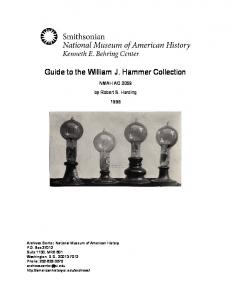 Guide to the William J. Hammer Collection