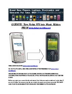 GUIDE TO Turn Nokia N70 into Music Edition FROM