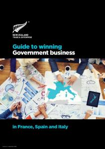 Guide to winning Government business