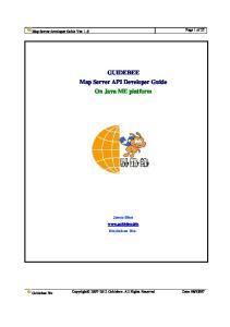 GUIDEBEE Map Server API Developer Guide On Java ME platform