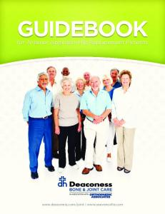 GUIDEBOOK. for Anterior Approach Hip Replacement Patients