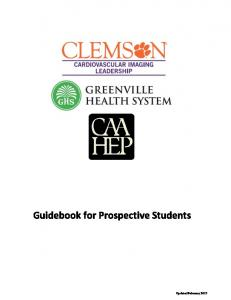Guidebook for Prospective Students